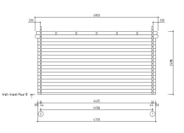 Garden room with aluminium doors ALU Concept E 44 | 4.1 x 4.4 m (13'5'' x 14'5'') 8