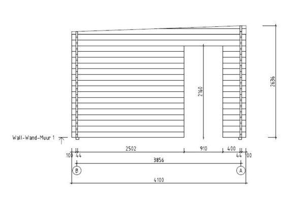 Garden room with aluminium doors ALU Concept E 44 | 4.1 x 4.4 m (13'5'' x 14'5'') 9