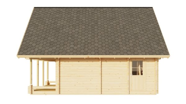 A classical 2-storey log house ANDERS 90 | 8.2 m x 5.5 m (26'10'' x 18') 90 mm 5