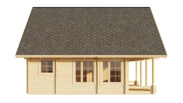 A classical 2-storey log house ANDERS 90 | 8.2 m x 5.5 m (26'10'' x 18') 90 mm 6