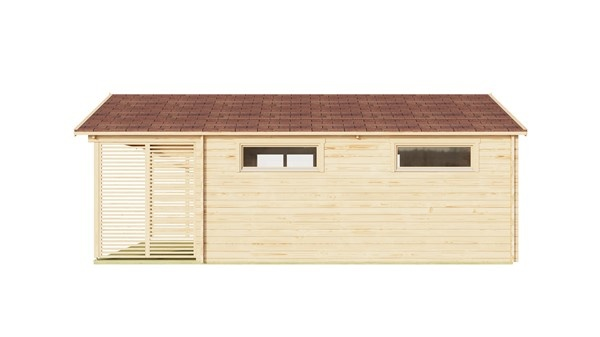 Log cabin ALU Concept AROSA C 44 | 6.2 x 8.3 m (20'3'' x 27'2'') 44mm 6