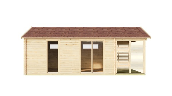Log cabin ALU Concept AROSA C 44 | 6.2 x 8.3 m (20'3'' x 27'2'') 44mm 4