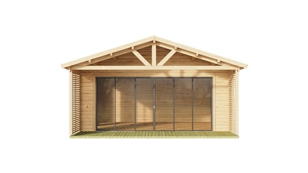 Log cabin ALU Concept AROSA C 44 | 6.2 x 8.3 m (20'3'' x 27'2'') 44mm 3