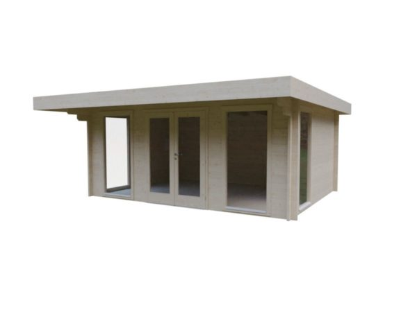 Compact garden room BARBARA 44 B | 4.8 x 3.6 m (15'9'' x 11'10'') 44 mm 2