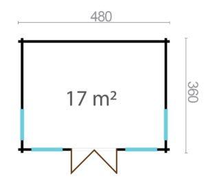 Compact garden room BARBARA 44 B | 4.8 x 3.6 m (15'9'' x 11'10'') 44 mm 7