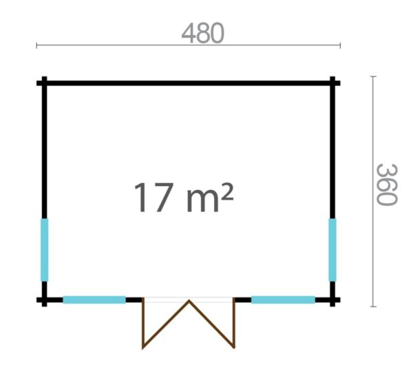 Compact garden room BARBARA 44 B | 4.8 x 3.6 m (15'9'' x 11'10'') 44 mm 6