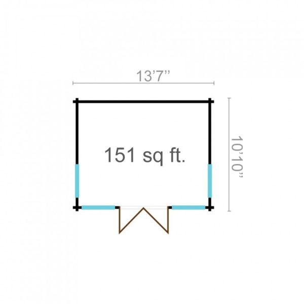 Natural light embracing garden room BARBARA 70 A   4.2 x 3.3 m (13'7'' x 10'10'') 70 mm 6
