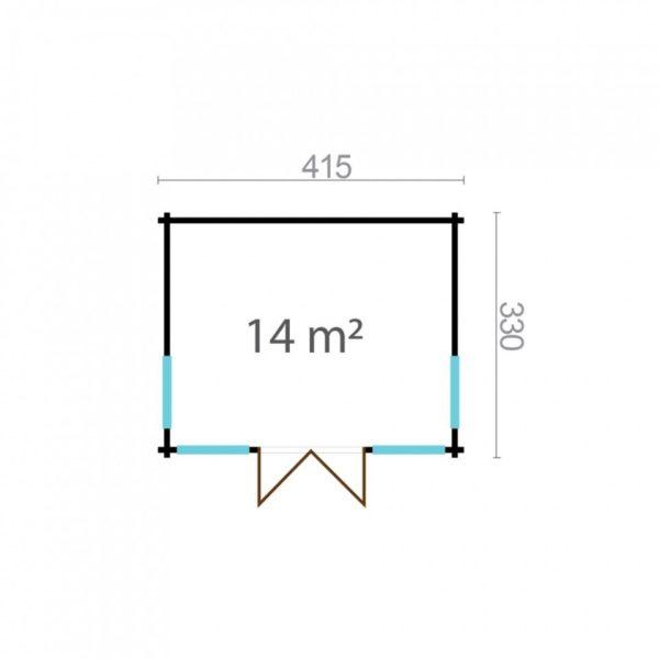 Natural light embracing garden room BARBARA 70 A   4.2 x 3.3 m (13'7'' x 10'10'') 70 mm 7