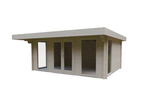 Small and sturdy garden office BARBARA 70 B | 4.8 x 3.6 m (15'9'' x 11'10'') 70 mm 2