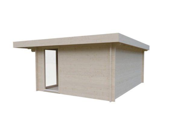 Small and sturdy garden office BARBARA 70 B | 4.8 x 3.6 m (15'9'' x 11'10'') 70 mm 3