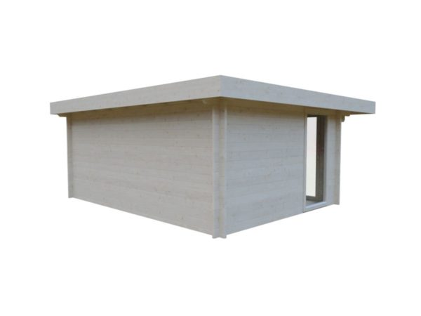 Small and sturdy garden office BARBARA 70 B | 4.8 x 3.6 m (15'9'' x 11'10'') 70 mm 4