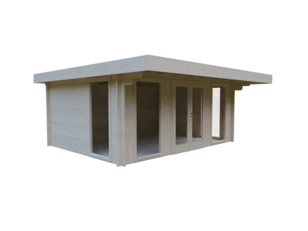 Small and sturdy garden office BARBARA 70 B | 4.8 x 3.6 m (15'9'' x 11'10'') 70 mm 5