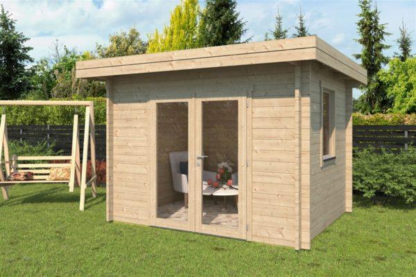 Simple modern garden shed BARUDA 44 | 3.6 x 3.3 m (11'9'' x 10'7'') 44 mm 1