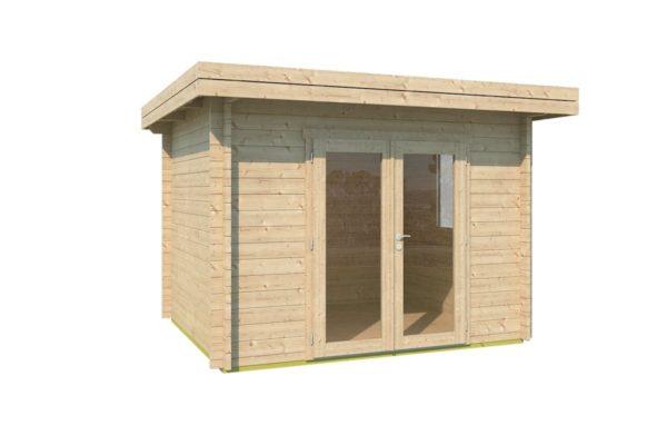 Simple modern garden shed BARUDA 44 | 3.6 x 3.3 m (11'9'' x 10'7'') 44 mm 2