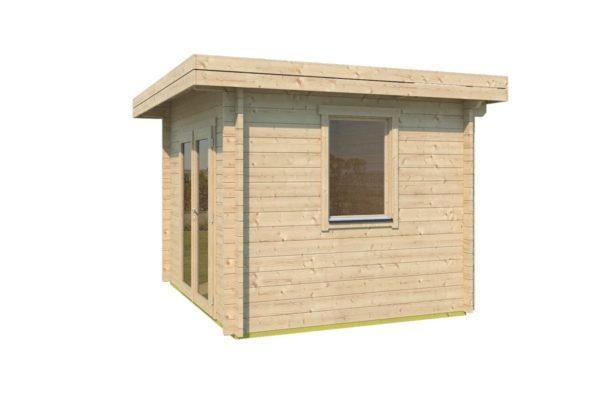 Simple modern garden shed BARUDA 44 | 3.6 x 3.3 m (11'9'' x 10'7'') 44 mm 3