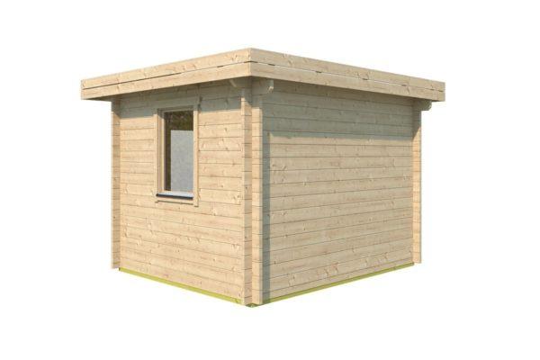 Simple modern garden shed BARUDA 44 | 3.6 x 3.3 m (11'9'' x 10'7'') 44 mm 4