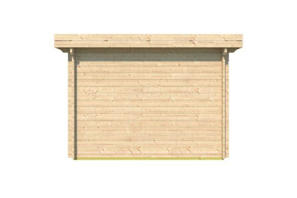 Simple modern garden shed BARUDA 44 | 3.6 x 3.3 m (11'9'' x 10'7'') 44 mm 5