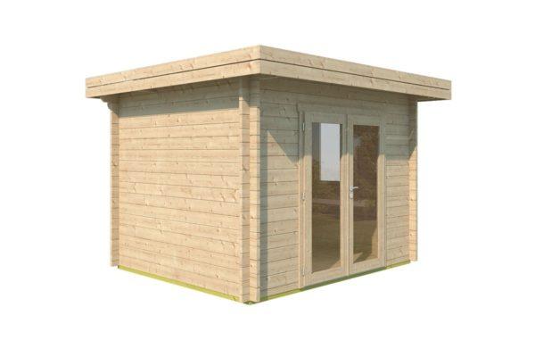 Simple modern garden shed BARUDA 44 | 3.6 x 3.3 m (11'9'' x 10'7'') 44 mm 7
