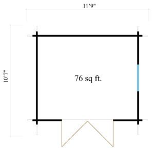 Simple modern garden shed BARUDA 44 | 3.6 x 3.3 m (11'9'' x 10'7'') 44 mm 10
