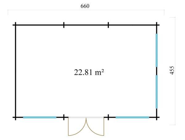 Luxurious summer house BERN 44 | 6.2 x 4.2 m (20'4'' x 13'9'') 44 mm 7