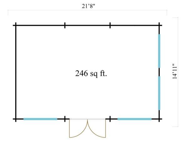 Luxurious summer house BERN 44 | 6.2 x 4.2 m (20'4'' x 13'9'') 44 mm 6