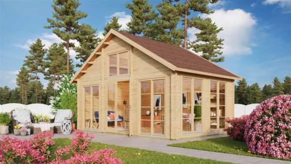 Family log cabin BERN 70 | 6.2 x 4.2 m (20'4'' x 13'9'') 70 mm 1
