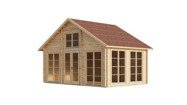 Family log cabin BERN 70 | 6.2 x 4.2 m (20'4'' x 13'9'') 70 mm 2