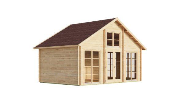 Family log cabin BERN 70   6.2 x 4.2 m (20'4'' x 13'9'') 70 mm 5