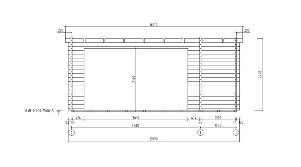 3-room modern wooden cabin ALU Concept B 44 | 4.8 x 6 m (17'7'' x 19'7'') 44 mm 9