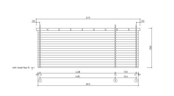 3-room modern wooden cabin ALU Concept B 44 | 4.8 x 6 m (17'7'' x 19'7'') 44 mm 8