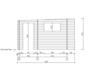 3-room modern wooden cabin ALU Concept B 44 | 4.8 x 6 m (17'7'' x 19'7'') 44 mm 13