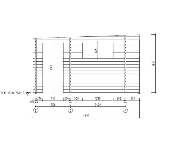 3-room modern wooden cabin ALU Concept B 44 | 4.8 x 6 m (17'7'' x 19'7'') 44 mm 7