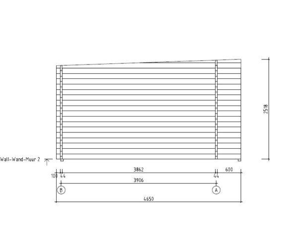 3-room modern wooden cabin ALU Concept B 44 | 4.8 x 6 m (17'7'' x 19'7'') 44 mm 6