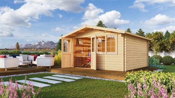 Simple garden shed BRIDGET 44 | 4 x 4 m (13'1'' x 13'1'') 44 mm 1