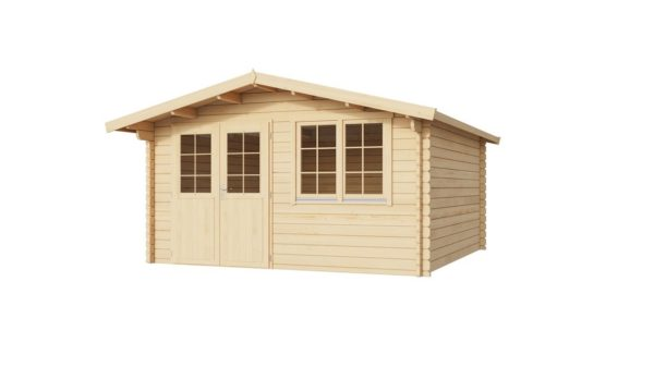Simple garden shed BRIDGET 44 | 4 x 4 m (13'1'' x 13'1'') 44 mm 2