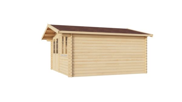 Simple garden shed BRIDGET 44 | 4 x 4 m (13'1'' x 13'1'') 44 mm 3