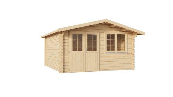 Simple garden shed BRIDGET 44 | 4 x 4 m (13'1'' x 13'1'') 44 mm 6
