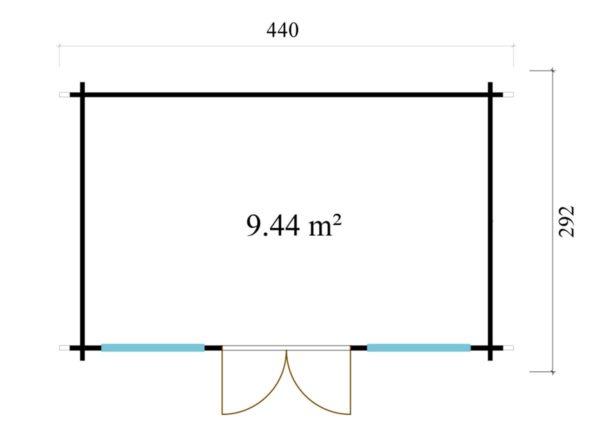 Nordic quality garden room Clockhouse CAMBRIDGE 70 | 4.4 x 3 m (14'5'' x 9'7'') 70 mm 7