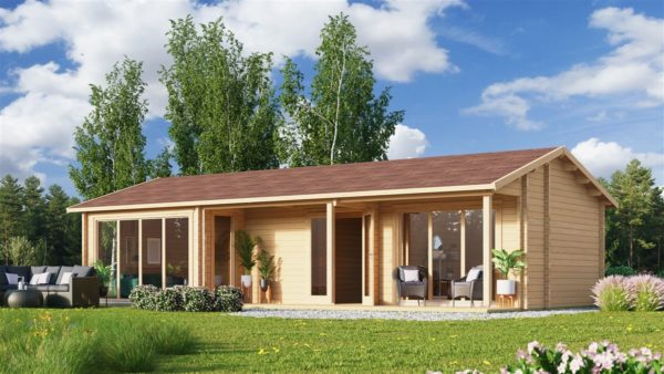Log cabin with multiple rooms CASABLANCA 70 | 11.2 x 6 m ( 36'9'' x 19'6'') 70 mm 1