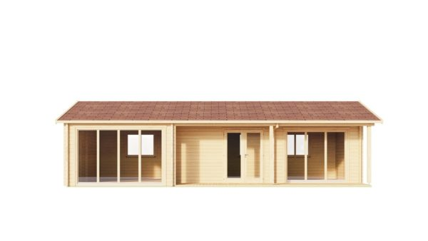Log cabin with multiple rooms CASABLANCA 70 | 11.2 x 6 m ( 36'9'' x 19'6'') 70 mm 6