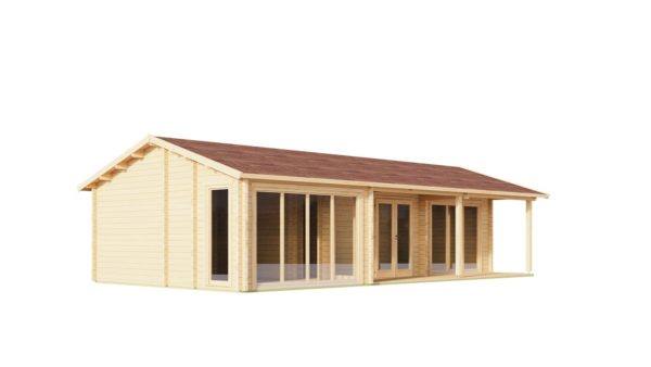 Log cabin with multiple rooms CASABLANCA 70 | 11.2 x 6 m ( 36'9'' x 19'6'') 70 mm 5