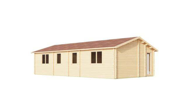 Log cabin with multiple rooms CASABLANCA 70 | 11.2 x 6 m ( 36'9'' x 19'6'') 70 mm 7