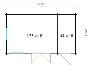 Classical garden house Clockhouse BRADFORD 44 | 5.9 x 3.5 m (19'2'' x 11'4'') 44mm 10