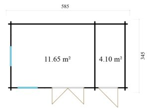 Garden room Clockhouse BRADFORD 70 | 5.9 x 3.5 m (19'2'' x 11'4'') 70mm 10