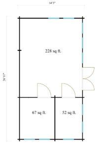 Wooden summer house Clockhouse BRISTOL 44 | 4.4 x 8.2 m (14'5'' x 26'11'') 44 mm 8