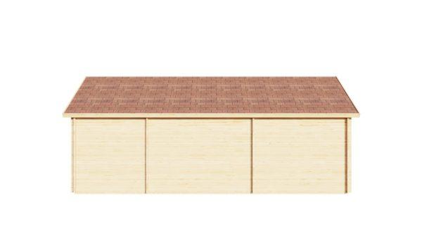 Wooden summer house Clockhouse BRISTOL 44 | 4.4 x 8.2 m (14'5'' x 26'11'') 44 mm 4