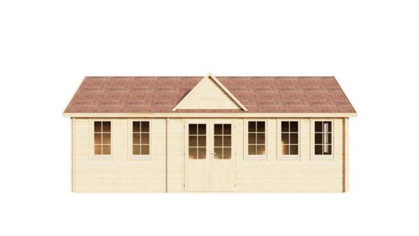 Wooden summer house Clockhouse BRISTOL 44 | 4.4 x 8.2 m (14'5'' x 26'11'') 44 mm 2