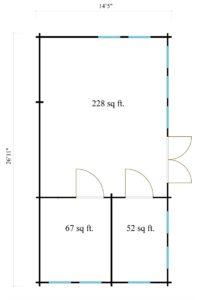3-room classical garden house BRISTOL 70 | 4.4 x 8.2 m (14'5'' x 26'11'') 70 mm 8