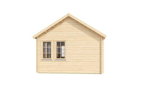 Gable roof garden house Clockhouse LONDON 70   5.5 m x 4 m (18' x 13'2'') 70 mm 5