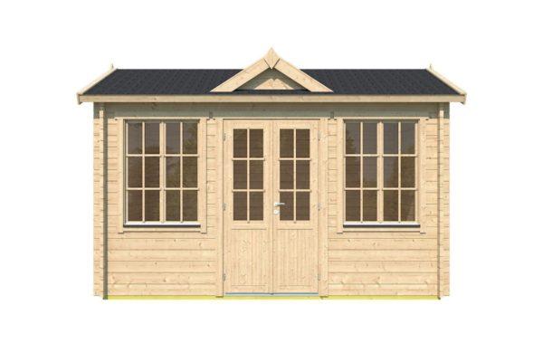Compact garden room Clockhouse CAMBRIDGE 44   4.4 x 3 m (14'5'' x 9'7'') 44 mm 2